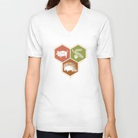 math V-neck T-shirts featuring simple math by 7115