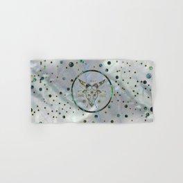 Capricorn Zodiac Gold Abalone on Constellation Hand & Bath Towel