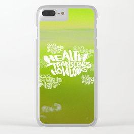 Health Transcends – Lime Clear iPhone Case