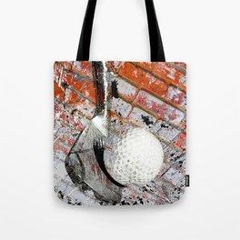 Modern Golf Art 3 Tote Bag