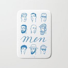 Men (are not all the same) Bath Mat
