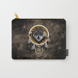 Indian Native Gray Wolf Dreamcatcher iPhone 4 5 6 7, ipod, ipad, pillow case and tshirt Carry-All Pouch