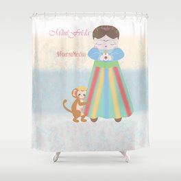 Fuerza Mexico by Mini Frida Shower Curtain
