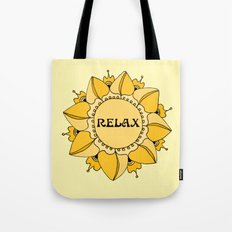 Relax Nouveau Golden Sun Mandala Tote Bag