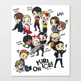 Yuri On Ice - Full Chibi Team! Canvas Print