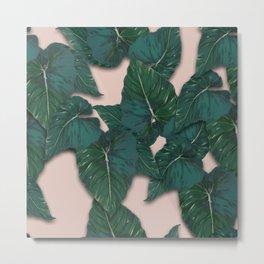 leaves monstera Metal Print