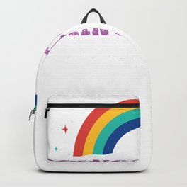 Gangsta Rap Rainbow Art Design for a Gangster Rapper Backpack