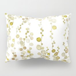 golden string of pearls watercolor Pillow Sham