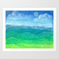 Blue Ridge Evening Art Print