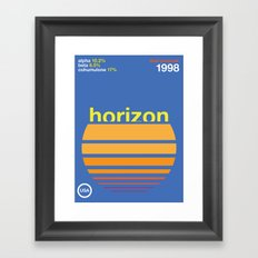 horizon//single hop Framed Art Print