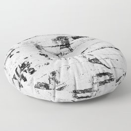 Distressed Grunge 102 in B&W INVERSE Floor Pillow