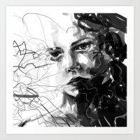 anxiety Art Prints featuring Anxiety by Tsukiko-Kiyomidzu