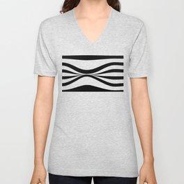 Stripe Bend Unisex V-Neck