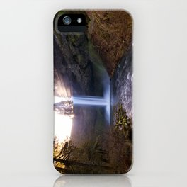 Sun Star Over South Falls iPhone Case