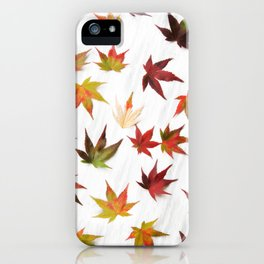 AUTUMN LEAVES PATTERN #2 #decor #art #society6 iPhone Case