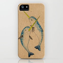 Winter Narwhals iPhone Case