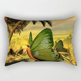 Butterflies ship Rectangular Pillow
