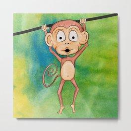 Swinging Monkey Metal Print