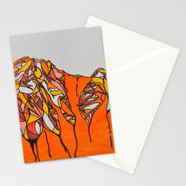 Melting Mountains Stationery Cards
