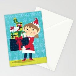 No Text - Elf Christmas Card Stationery Cards