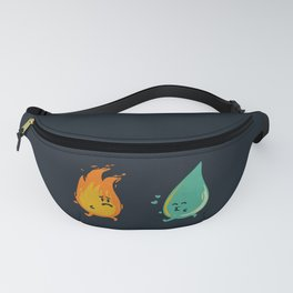 Impossible Love (fire and water kiss) Fanny Pack