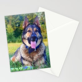 Hiro German Shepard Stationery Cards