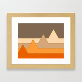 Orange Mountains #society6 #decor #buyart Framed Art Print