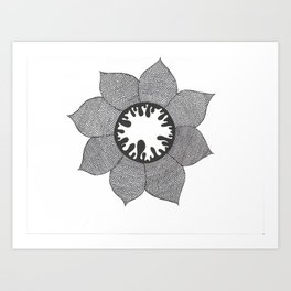 Colourless life Art Print