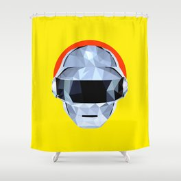 Daft Low Poly Punk Shower Curtain