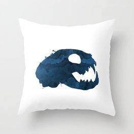Cat Skull Throw Pillow