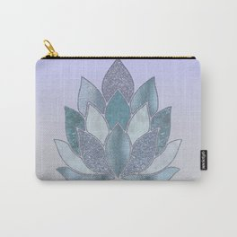 Elegant Glamorous Pastel Lotus Flower Carry-All Pouch