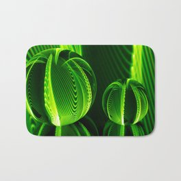 Lime lines in the glass balls. Bath Mat