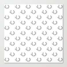 Simple Wreath Pattern Canvas Print