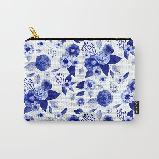 Flowers Print Carry-All Pouch