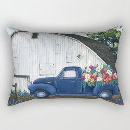 Flower Farm Truck Rectangular Pillow