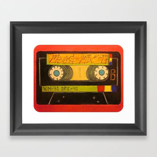 """The Old Mix-Tape"" Framed Art Print"