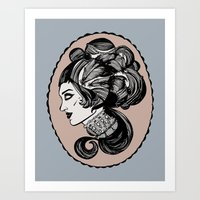 victorian Art Prints featuring victorian by Allison Lannutti
