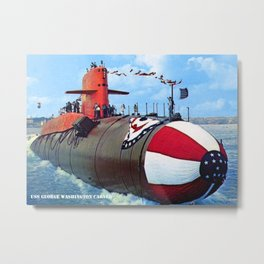 USS GEORGE WASHINGTON CARVER (SSBN-656) Metal Print