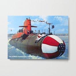 USS GEORGE WASHINGTON CARVER (SSBN-656) Metal Print