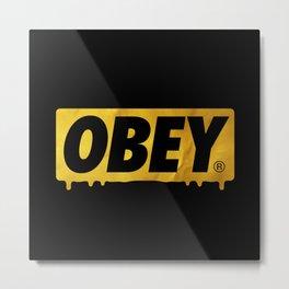 OBEY Bleeding Gold Metal Print
