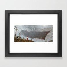 1920 - wind gambit Framed Art Print