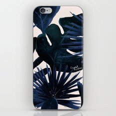 Tropical Leaves - Midnight iPhone & iPod Skin