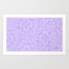 Japanese Floral Lavender Art Print