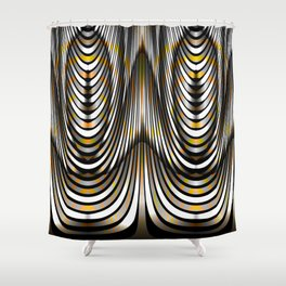 Planetary Visitors, 2360h92 Shower Curtain