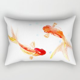 Goldfish, Two Koi Fish, Feng Shui, yoga Asian meditation design Rectangular Pillow