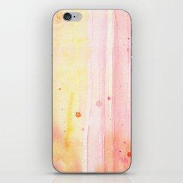 Pink Orange Rain Watercolor Texture Splatters iPhone Skin