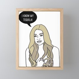 I Know My Tequila Framed Mini Art Print