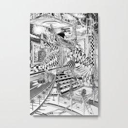 LA DIMENSIÓN DE CALABI-YAU O UNA TARDE EN EL BELLAGIO Metal Print