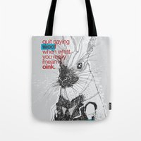 politics Tote Bags featuring Politics by YONIL
