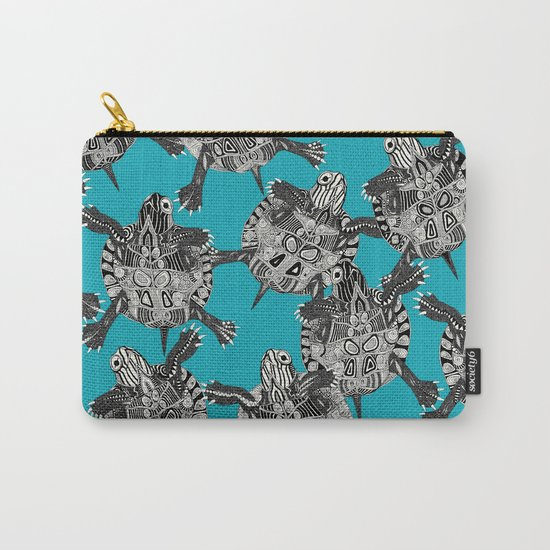 turtle party surf blue Carry-All Pouch